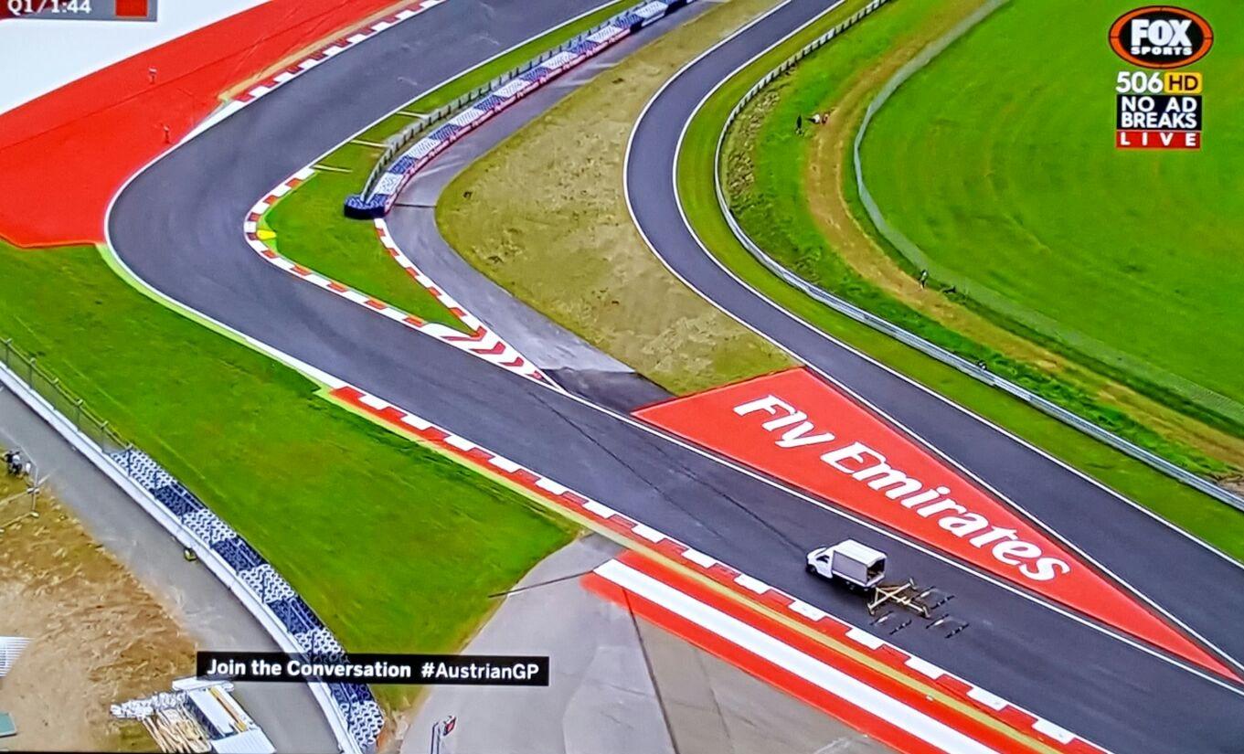 Tracksweep Triplex Austrian GP Foxtel 2016