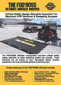 The FODBOSS Ultimate Airfield Sweeper Brochure (R)