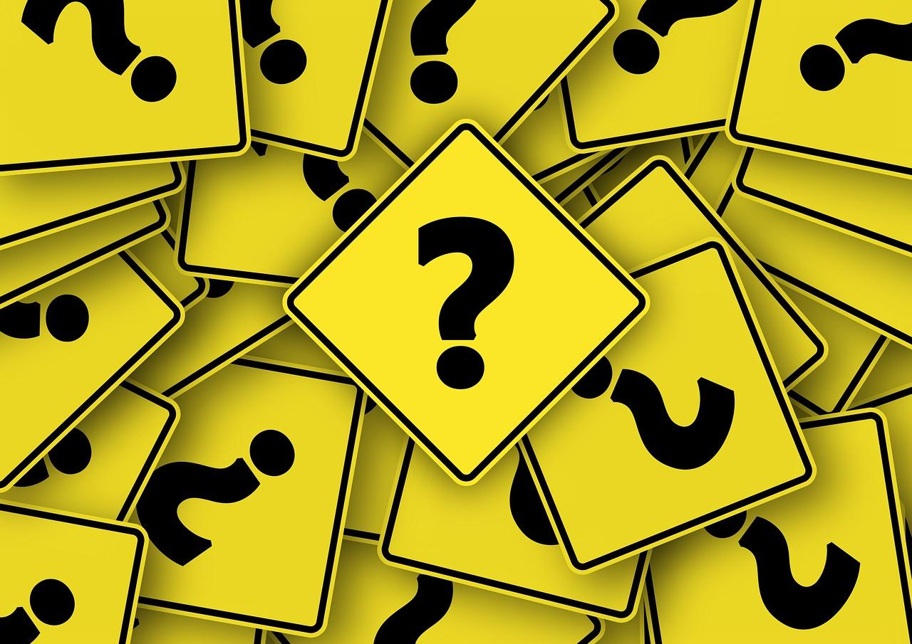 pile of question marks